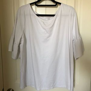 EUC - Lane Bryant White Bell Sleeve Shirt - 18/20